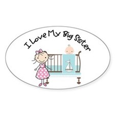little brother big sister matching shirts Bumper Stickers
