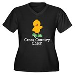 Cross Country Chick Women's Plus Size V-Neck Dark
