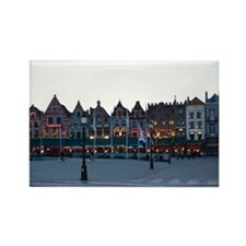 Bruges at Night Rectangle Magnet