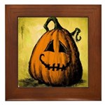 Vintage Pumpkin Framed Tile