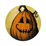 Vintage Pumpkin Ornament (Round)