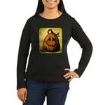 Vintage Pumpkin Women's Long Sleeve Dark T-Shirt