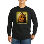 Vintage Pumpkin Long Sleeve Dark T-Shirt