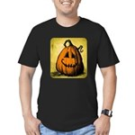 Vintage Pumpkin Men's Fitted T-Shirt (dark)