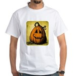 Vintage Pumpkin White T-Shirt