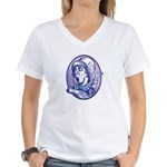 Mad Hatter Women's V-Neck T-Shirt