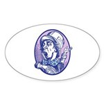 Mad Hatter Oval Sticker (10 pk)