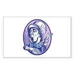 Mad Hatter Rectangle Sticker 10 pk)