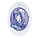 Mad Hatter Oval Ornament