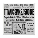 Titanic Sinks, 1500 Die Tile Coaster
