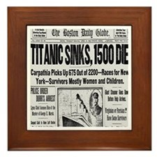 Titanic Sinks, 1500 Die Framed Tile