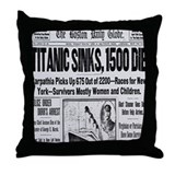 Titanic Sinks, 1500 Die Throw Pillow