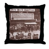 Titanic News Placard Throw Pillow