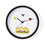 Chickie Daydreams Wall Clock