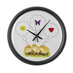 Chickie Daydreams Large Wall Clock