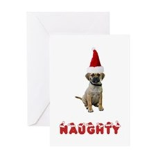 Naughty Puggle Greeting Card