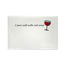 I Pair Well With Red Wine Rectangle Magnet (10 pac