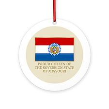Missouri Proud Citizen Ornament (Round)
