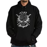 Knitting Skull White Hoody