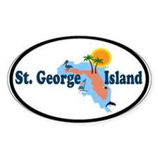 St. George Island FL Oval Decal
