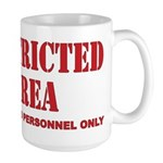 Restricted Area Large Mug