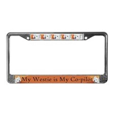 """Booker's"" Westie stuff! License Plate Frame"
