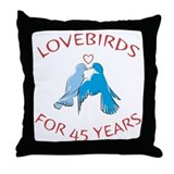 45th Lovebirds Throw Pillow