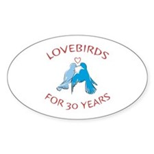 30th Lovebirds Oval Decal