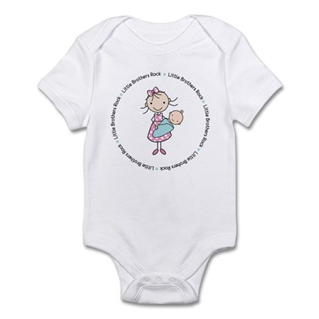 little brothers rock big sister shirt Infant Bodys
