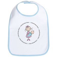 little brothers rock big sister shirt Bib