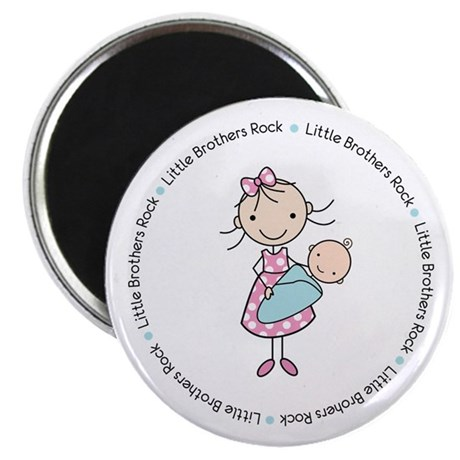 little brothers rock big sister shirt Magnet