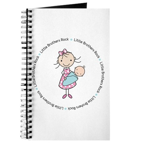 little brothers rock big sister shirt Journal