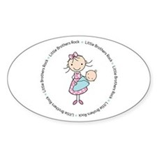 little brothers rock big sister shirt Decal