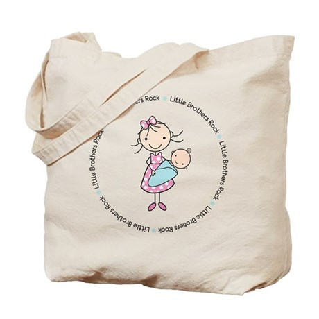 little brothers rock big sister shirt Tote Bag