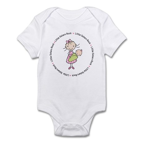 little sisters rock big sister shirt Infant Bodysu