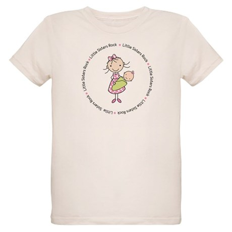 little sisters rock big sister shirt Organic Kids