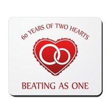 60th Heart Rings Mousepad