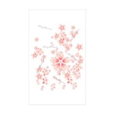 Cherry blossoms Rectangle Sticker 10 pk)