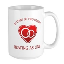 35th Heart Rings Mug