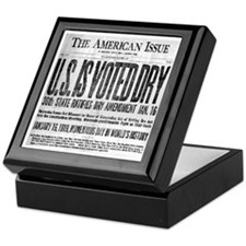 US Is Voted Dry! Keepsake Box