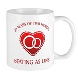 30th Heart Rings Small Mug