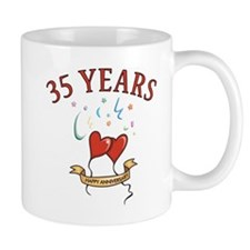 35th Festive Hearts Coffee Mug