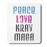 Peace Love Krav Maga Mousepad