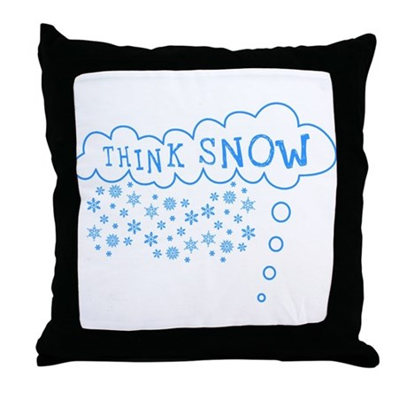 Think Snow Throw Pillow
