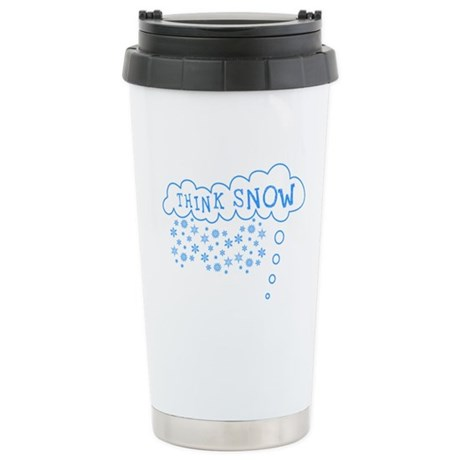 Think Snow Ceramic Travel Mug