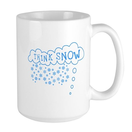 Think Snow Large Mug