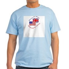 British by Birth American by Ash Grey T-Shirt