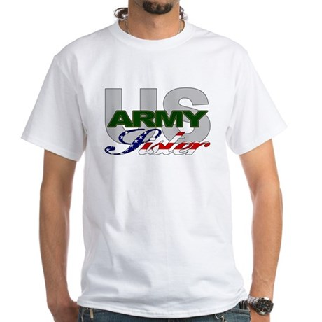 United States Army Sister White T-Shirt