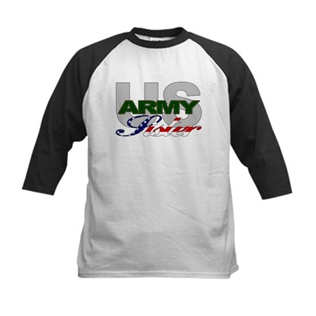 United States Army Sister Kids Baseball Jersey