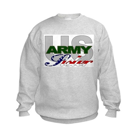 United States Army Sister Kids Sweatshirt